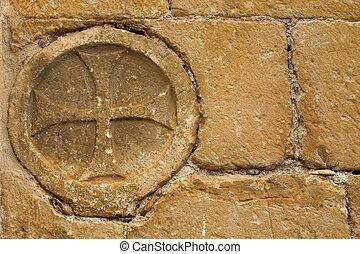 cross in the wall