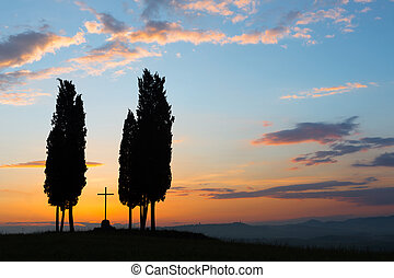 Cross in Tuscany
