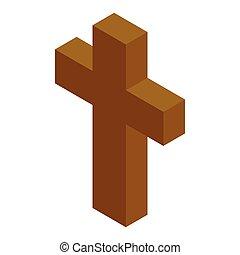 Cross isometric 3d icon