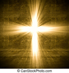 cross light - 3d image of cross of light