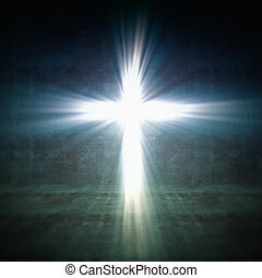cross light - 3d image of cross of light