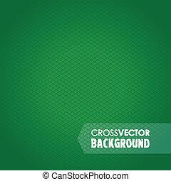 cross line green background