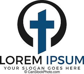Template logo for churches and Christian organizations cross.