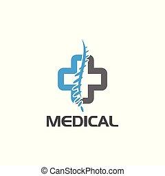 Cross logo medical spine diagnostic center