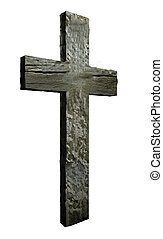 Cross made from wood