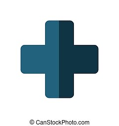 cross medical health symbol shadow