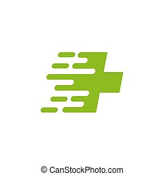 Cross medical sign logo design template