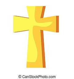 cross metal decoration isolated icon