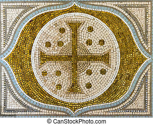 cross mosaic tile