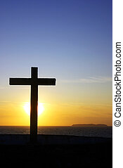Cross of Christ . - Cross of Christ to the Sunset.
