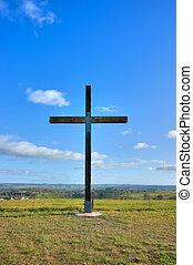 cross of christ in field