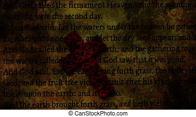 Cross of Jesus on grunge background