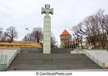 Cross of Liberty. Tallinn, Estonia - Monument to the War of ...