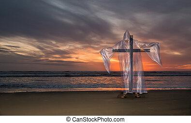 Cross of Salvation Beach Sunset