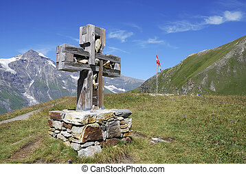 Cross on a moutain