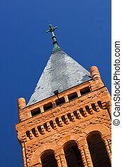 Cross on Church Steeple