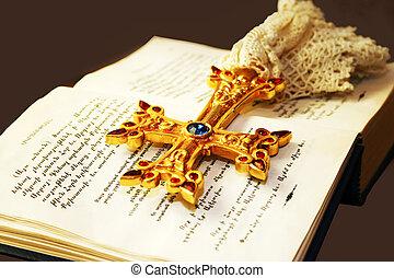 Cross on Holy Bible