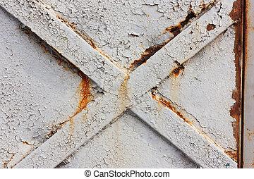 Cross on metal doors