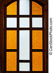 cross on stained glass