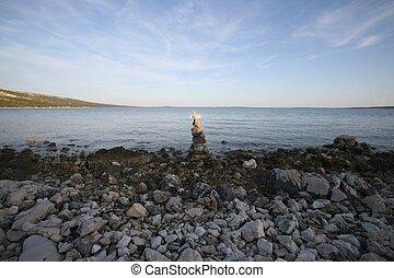 Cross on the beach
