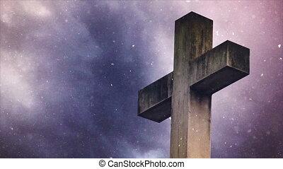 Cross on the cemetery