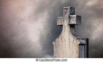 Cross on the cemetery.