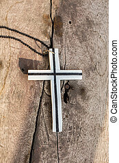 Cross on the wooden