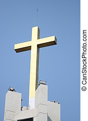 Cross on top of a church.