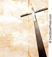 cross on vintage background