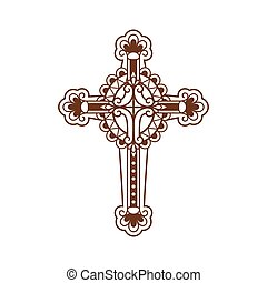 Cross ornate icon