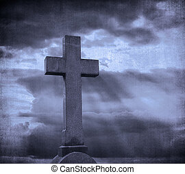 cross over grunge background