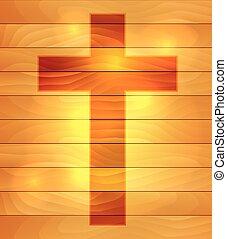 Cross Over Wood Boards Illustration