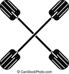 Cross paddle icon, simple style