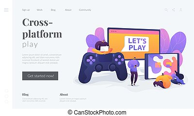 Cross-platform play landing page template.