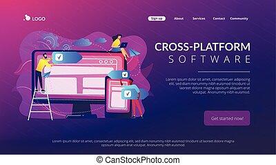 Cross-platform software concept landing page.