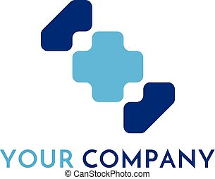Cross plus medical logo icon. health care design concept template vector illustration.