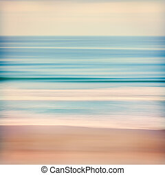 Cross-processed Ocean - An abstract ocean seascape with...