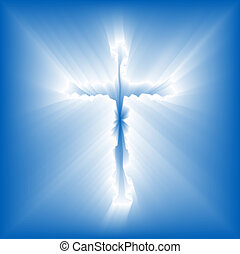Cross Radiant Emergence - Abstract illustration of a cross ...