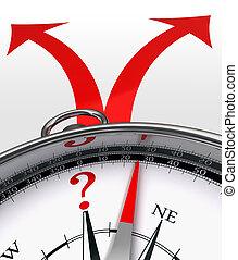cross roads concept compass - cross roads choice red arrows ...