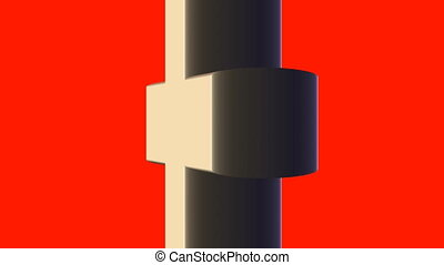 cross rotating on swiss flag