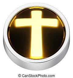 Cross round icon