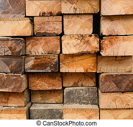 old hardwood surface - Cross section detail of old hardwood...
