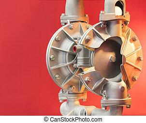 Cross section of diaphragm pump