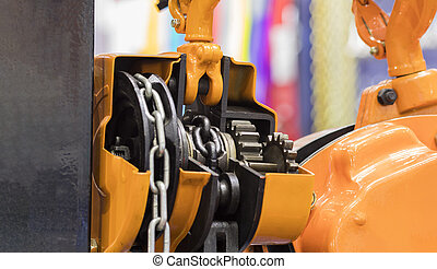 cross section of industrial crane