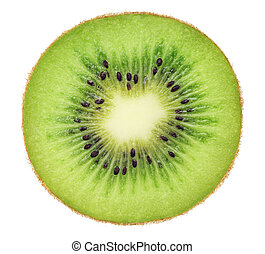 Cross section of ripe kiwi (isolated)