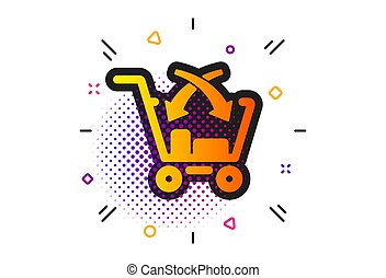 Cross sell icon. Market retail sign. Vector