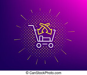 Cross sell line icon. Market retail sign. Vector