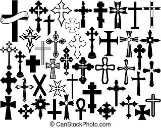 Cross set isolated on white
