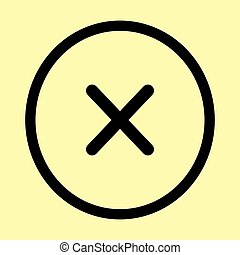 Cross sign. Flat style icon