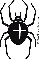 Cross spider icon, simple style